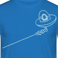 Design ~ UFO Attack! - Men's T-Shirt
