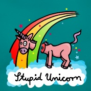 The stupid unicorn loses his head T-Shirts