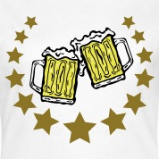 glasses of beer and stars T-Shirts