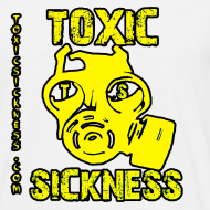 Design ~ NEW Mens Yellow  Toxic Logo White t-shirt