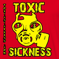 Design ~ NEW Mens Yellow Toxic Logo Red T-Shirt