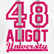 Motif ~ Sweat femme Aligot University marquage rose néon