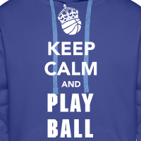 Zoom: Men's Hoodie with design Keep Calm and Play Basketball