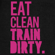Design ~ Eat clean train dirty v2 | womens scoop neck jumper