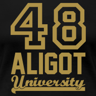 Motif ~ Tee shirt Femme Aligot University marquage Gold