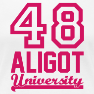 Motif ~ Tee shirt Femme Aligot University White and Pink