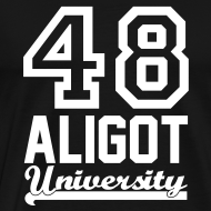 Motif ~ Tee shirt Aligot University black white homme coupe classique