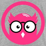 Eule mit Brille im Kreis T-Shirts