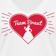 Team Braut – Junggesellinnenabschied T-Shirt Herz