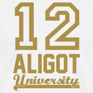 Motif ~ Tee shirt homme 12 aligot university white & gold