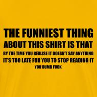 Ontwerp ~ Grappig T-shirt met heel vele nietszeggende tekst