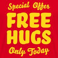 Ontwerp ~ T-shirt met fluweelprint Free hugs today