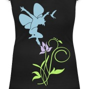 Black Orchidee / orchid (2c) Women's T-Shirts