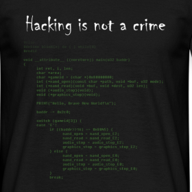 T Shirt Hacking is not a crime