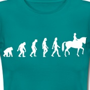 Blu diva Horse Riding Evolution 1 (1c) T-shirt
