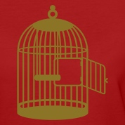 Dark red Leerer Käfig / empty cage (1c) Women's T-Shirts