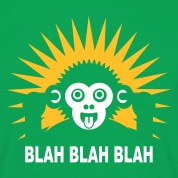 Kelly green Blah blah blah - Ape - dark shirt Men's T-Shirts