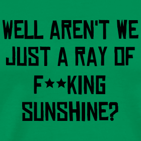 Well Aren't We Just A Ray Of F**king Sunshine?