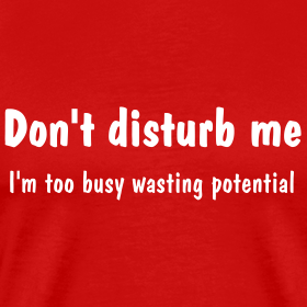 Don't Disturb Me, I'm Too Busy Wasting Potential