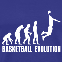 Zoom: Men's Premium T-Shirt with design Basketball Evolution Dunk