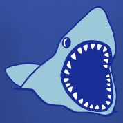 Royal blue shark Kids' Tops
