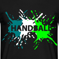 Motiv ~ Schwarz 3 Splash Handball T-Shirts
