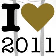 Ontwerp ~ I Love 2011 trui - goud metallic