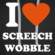 Design ~ I heart screech wobble hoodie - Black