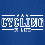 cycling is life deluxe Kids' Shirts