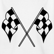racing flags sport T-shirt bambini