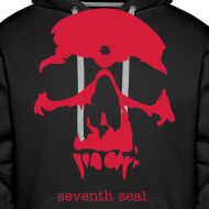 Design ~ Skull hoodie - black/red