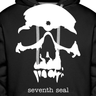 Design ~ Seventh Seal Skull hoodie - black/white