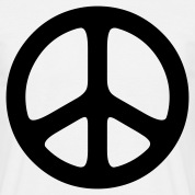 peace sign hippie T-shirt