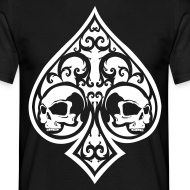 Design ~ Ace of Spades Men's shirt - black/white