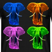 4 coloured Elefants T-Shirts