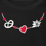 Dirndl jewelry with pretzel, gingerbread heart and Edelweiss Kids' Shirts