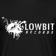 Design ~ Lowbit Records Men's T-Shirt (White Print)
