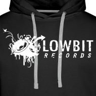 Design ~ Lowbit Records Men's Hoodie (White Print)