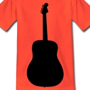guitar instrument music T-shirt bambini