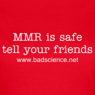 Design ~ MMR is Safe - Tell Your Friends - White Text