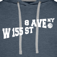 Zoom: Men's Hoodie with design Rucker Park Basketball NYC