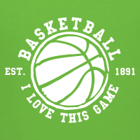 Zoom: Kids' Hoodie with design Basketball - I love this game