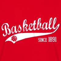 Zoom: Men's T-Shirt with design Basketball Since 1891 Slogan