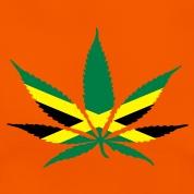 cannabis jamaica flag T-Shirts