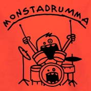Monster Drummer Kids' Shirts