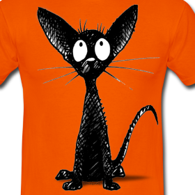 Design ~ Black Oriental Cat - Paul Stickland