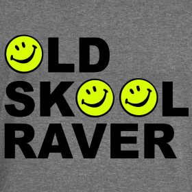 Old skool raver rave acid house t shirts clothing for Old skool acid house