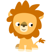 Cute Inquisitive Cartoon Lion by Cheerful Madness!!