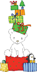 Motif Petit ours de Noël