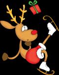 Motif Renne de Noël